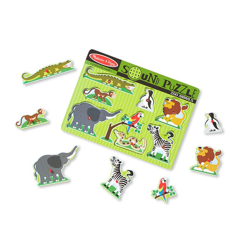 Zoo Animals Sound Puzzle - 8 Pieces - Happki