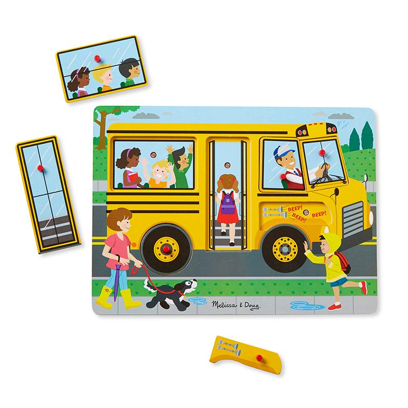 The Wheels on the Bus Sound Puzzle - Happki