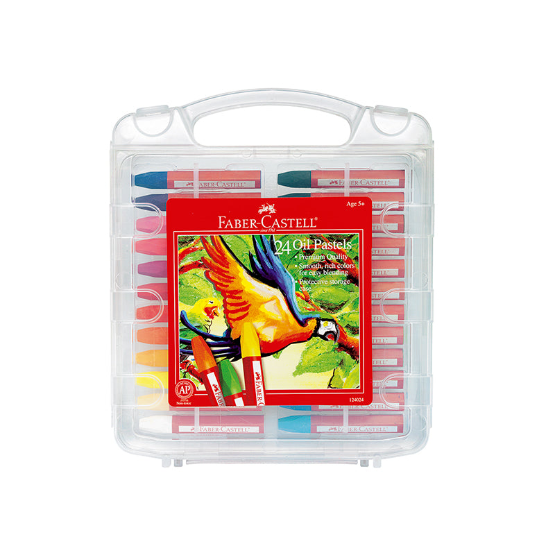 24 Oil Pastels in Storage Case - Happki