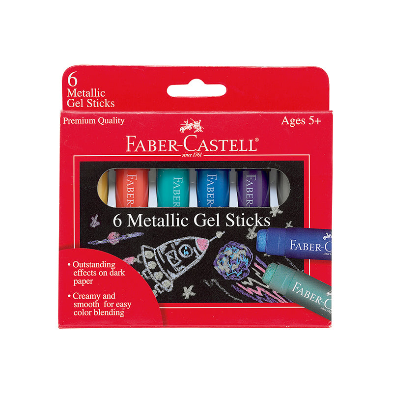 Metallic Gel Sticks - Set of 6 - Happki