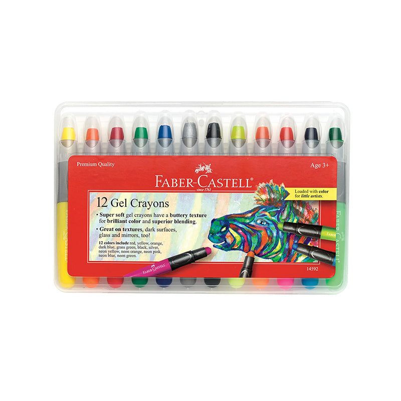 12 Gel Crayons in Storage Case - Happki