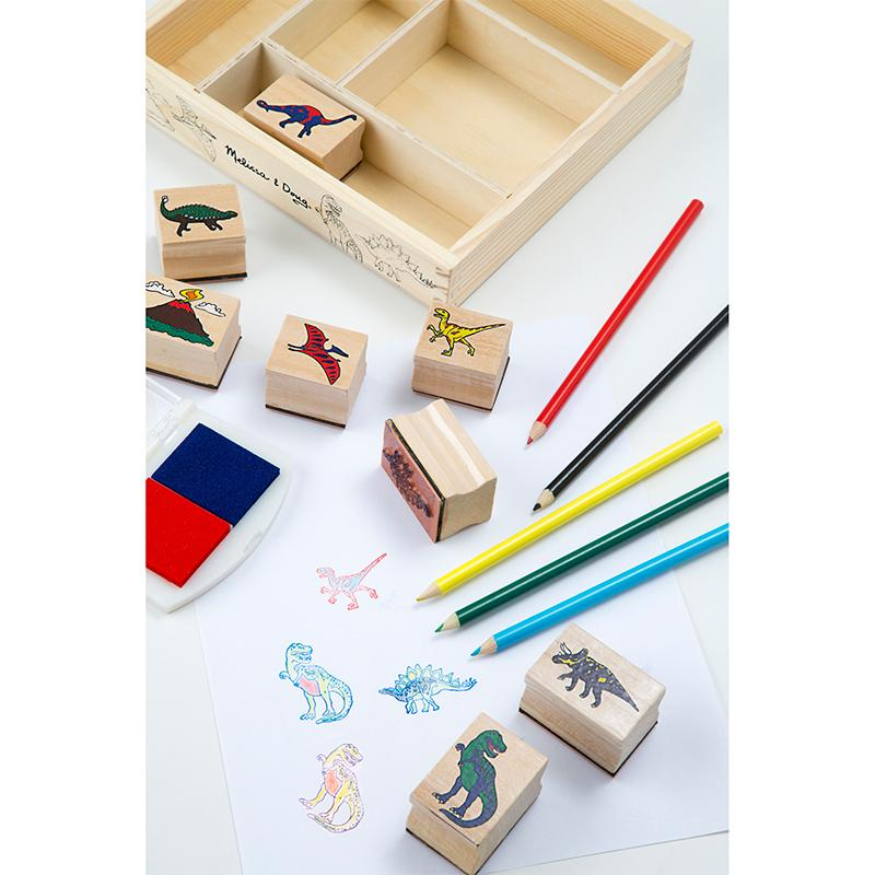 Wooden Stamp Set - Dinosaurs - Happki