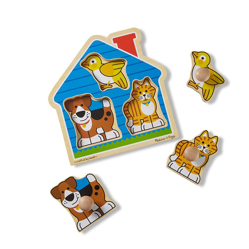 House Pets Jumbo Knob Puzzle - 3 Pieces - Happki