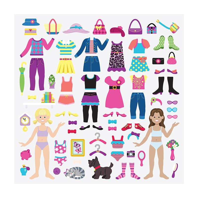 Puffy Stickers Play Set: Dress-Up - Happki