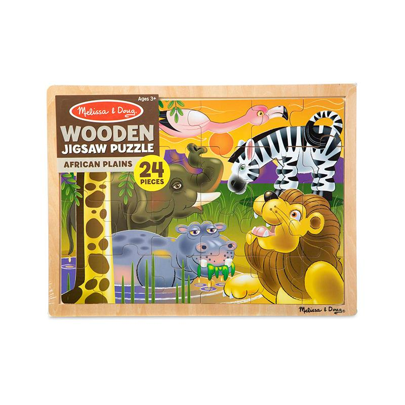 African Plains Wooden Jigsaw Puzzle - 24 Pieces - Happki