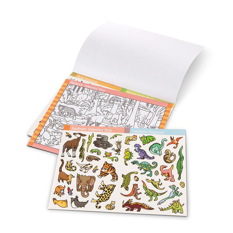 Seek & Find Sticker Pad- Animal - Happki