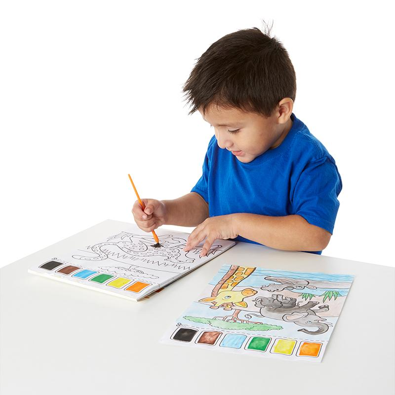 Safari Paint with Water Kids' Art Pad - Happki