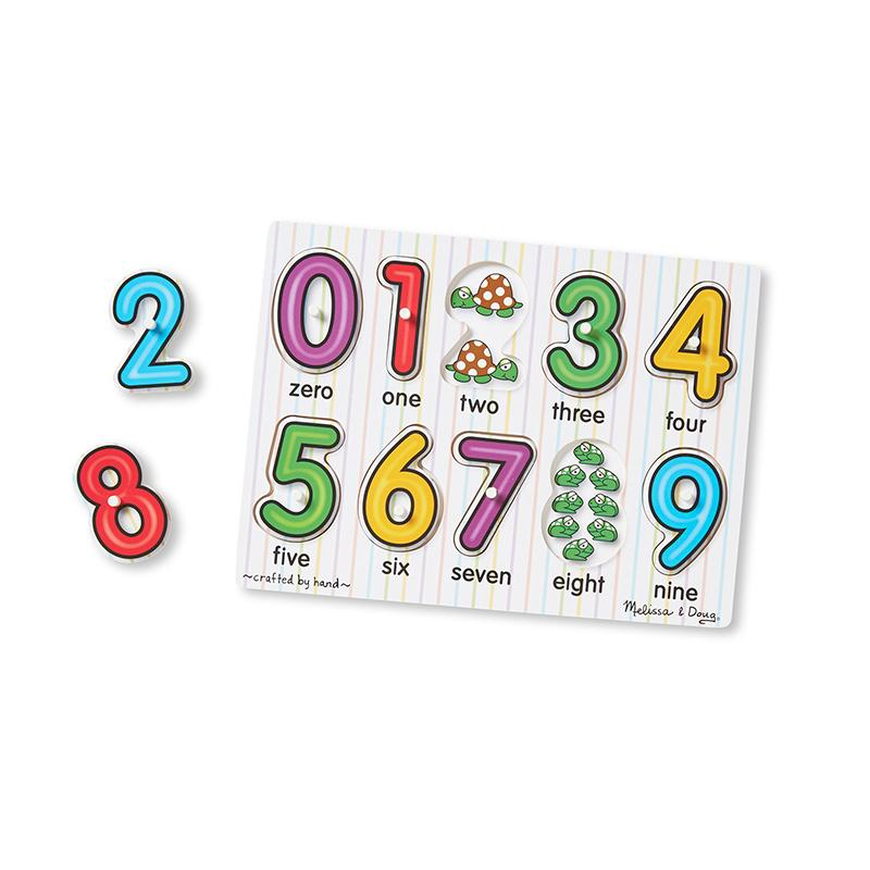 See-Inside Numbers Peg Puzzle - 10 pieces - Happki