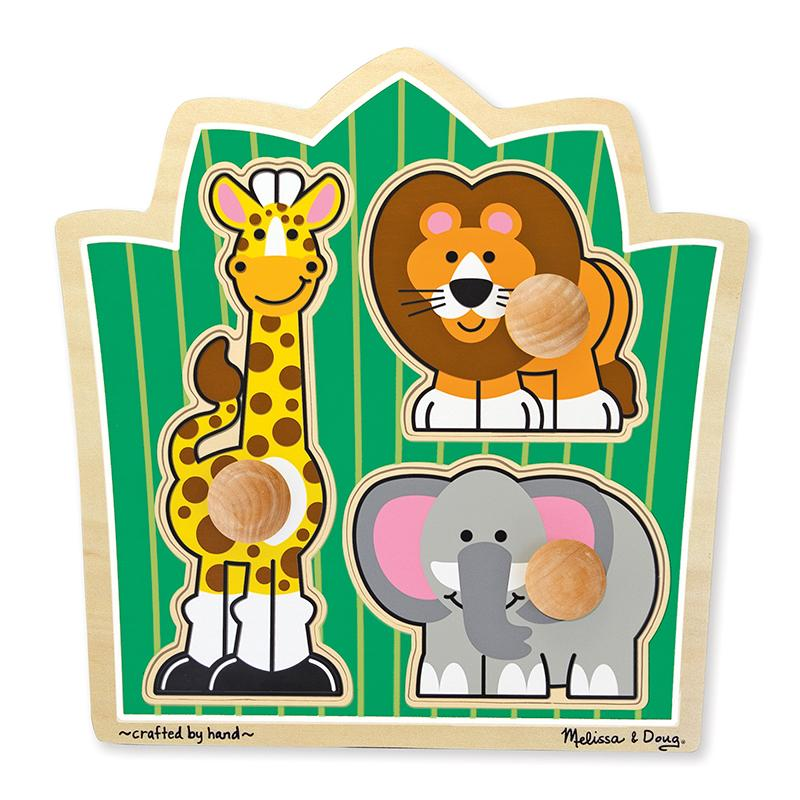 Jungle Friends Jumbo Knob Puzzle - 3 Pieces - Happki