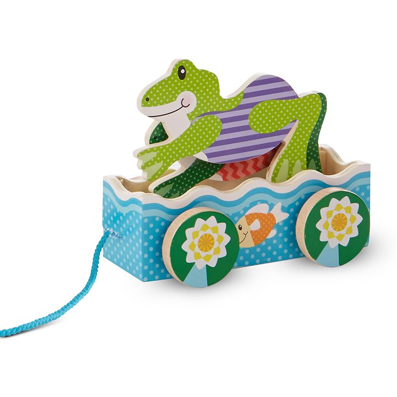 First Play Friendly Frogs Pull Toy - Happki