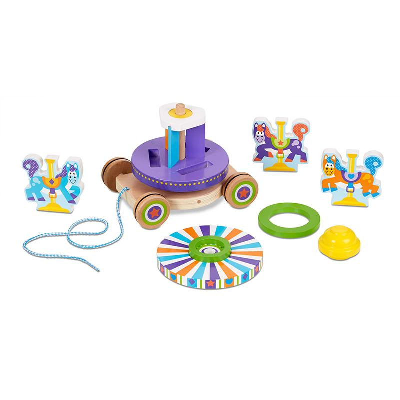 First Play Carousel Pull Toy - Happki