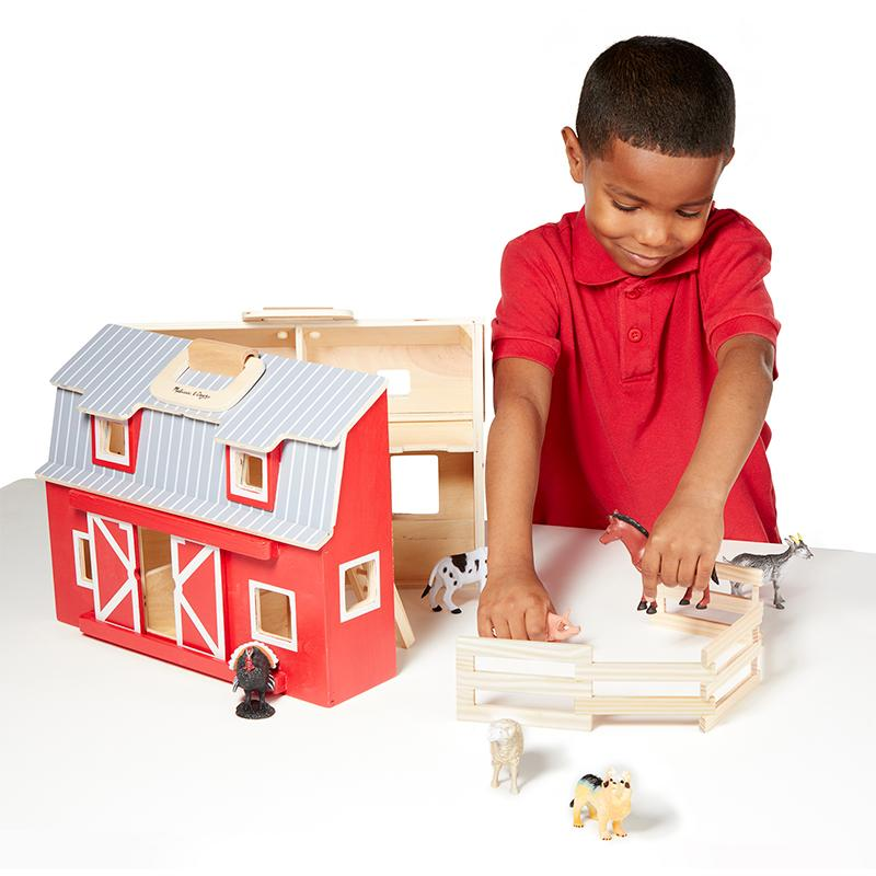 Wooden Fold & Go Barn - Happki