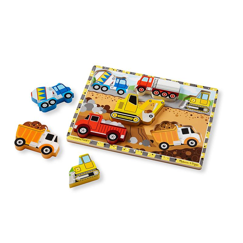 Melissa and Doug Construction Chunky Puzzle - 6 Pieces