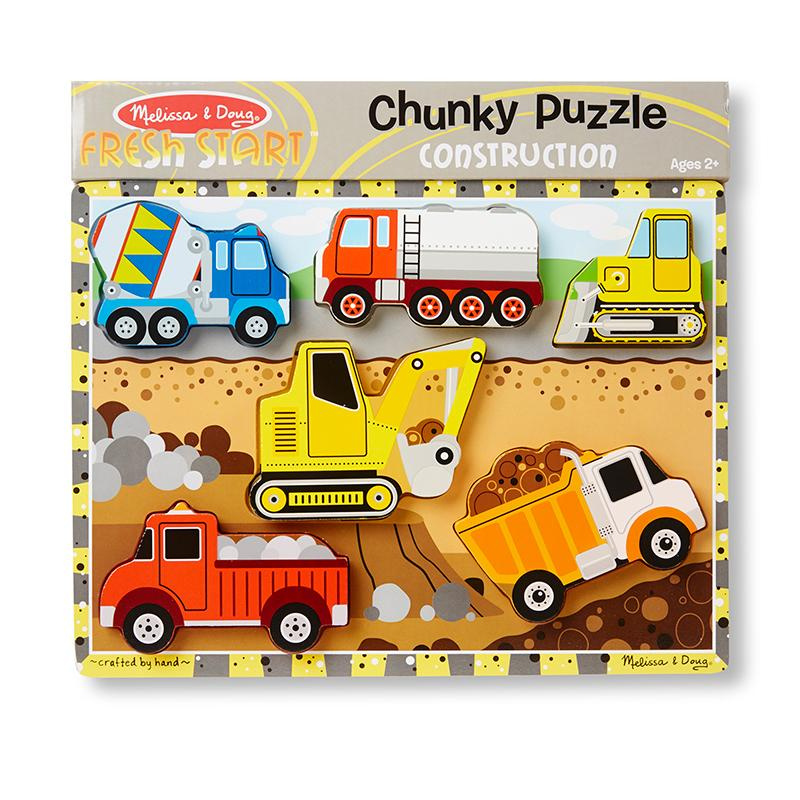 Construction Chunky Puzzle - 6 Pieces - Happki