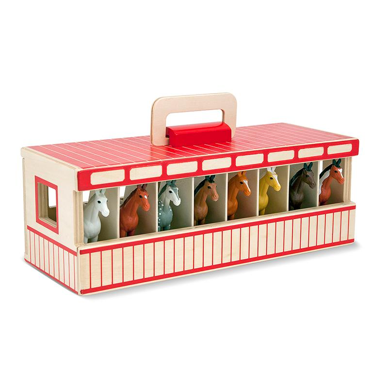 Melissa and Doug Take-Along Show-Horse Stable Play Set