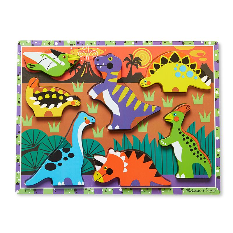 Dinosaurs Chunky Puzzle - 7 Pieces - Happki