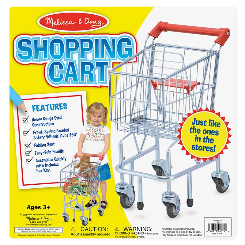 Shopping Cart Toy - Metal Grocery Wagon - Happki