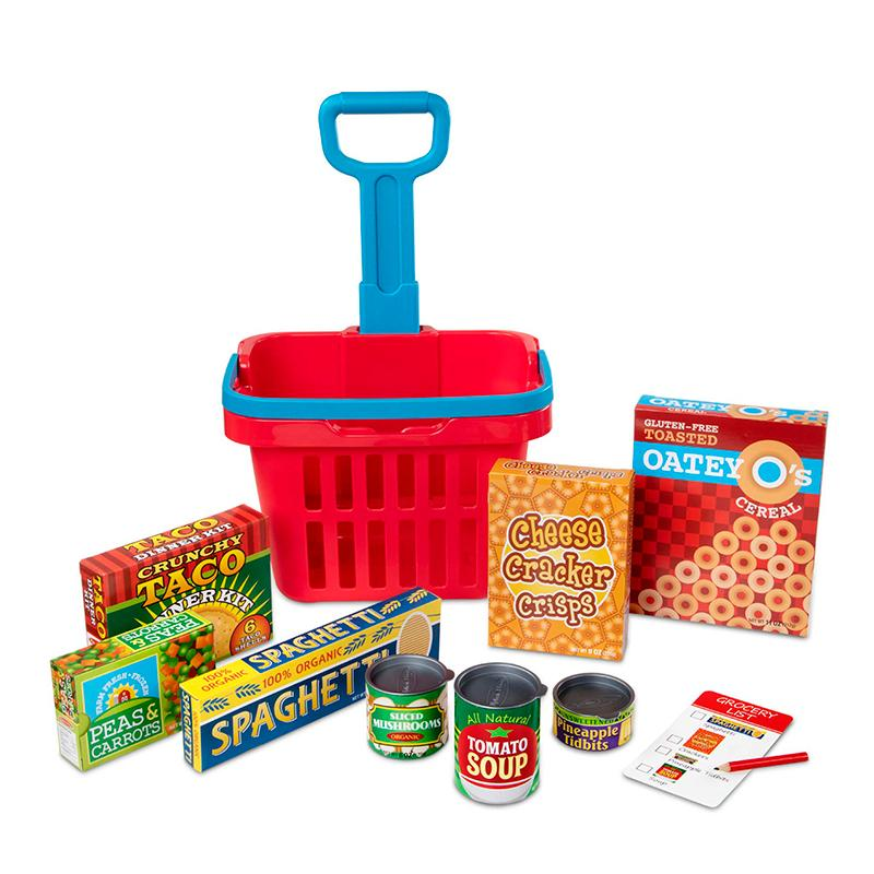Fill & Roll Grocery Basket Play Set - Happki