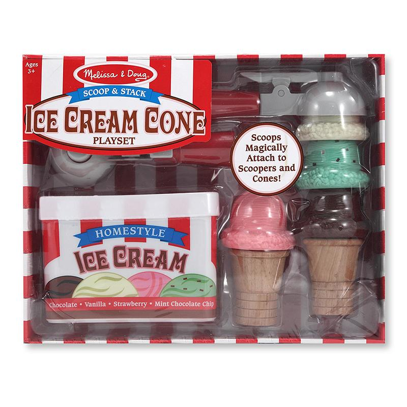 Scoop & Stack Ice Cream Cone Playset - Happki