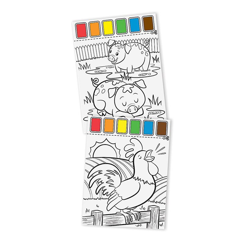 Farm Animals Paint with Water Kids' Art Pad - Happki