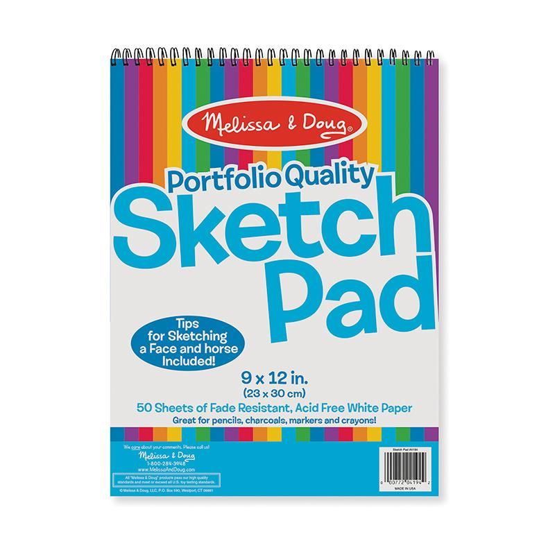 Quality Spiral-Bound Sketch Pad - Happki