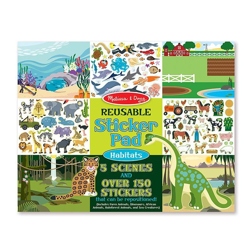 Reusable Sticker Pad - Habitats - Happki