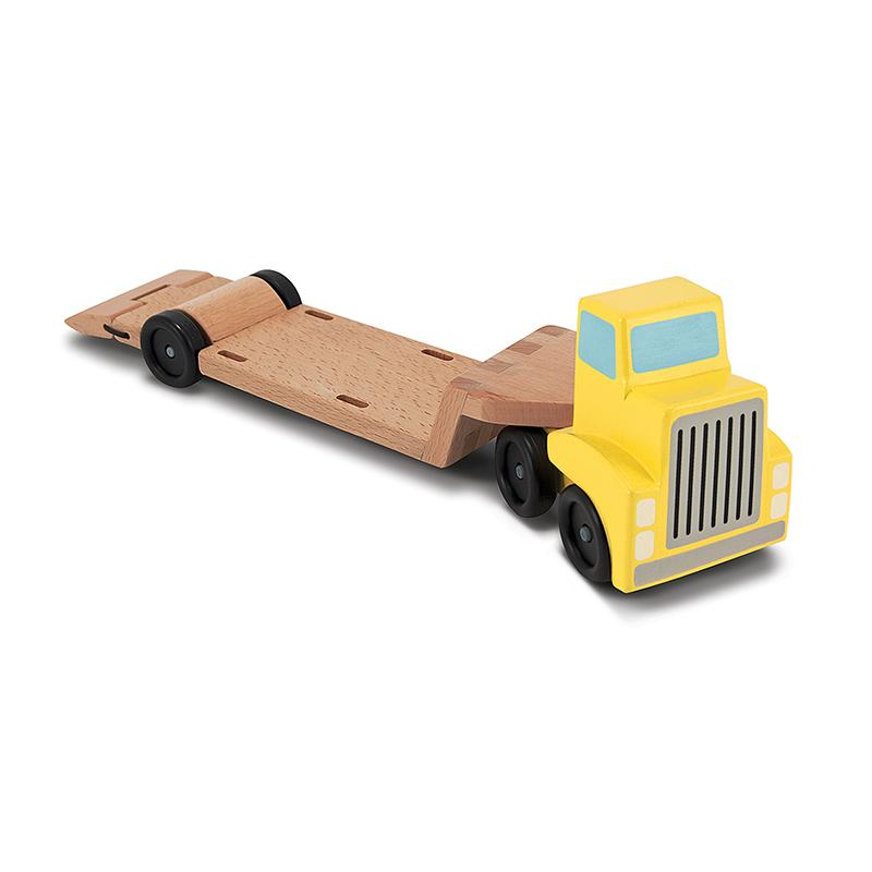 Trailer & Excavator Wooden Vehicles Play Set - Happki