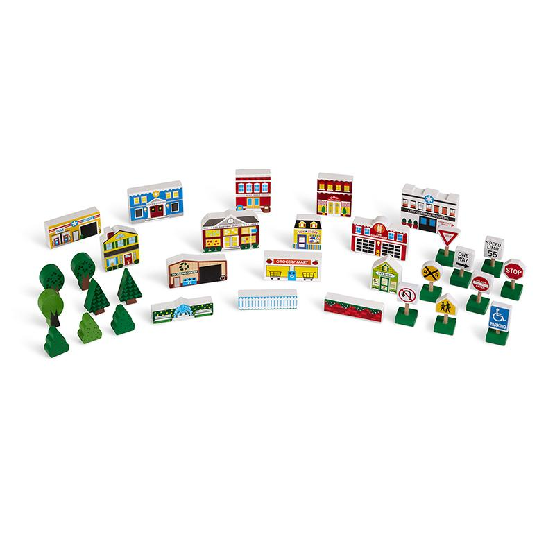 Wooden Town Play Set - Happki