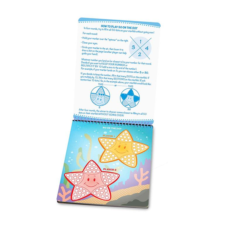 On the Go - Write-On / Wipe-Off Activity Games Pad - Happki