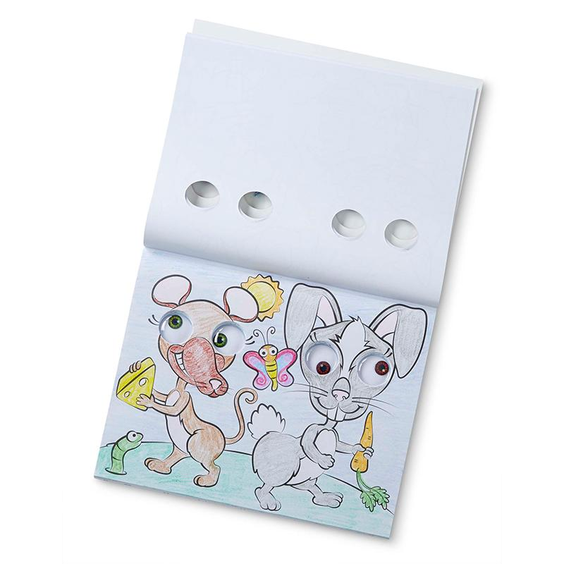 Goofy Animals - Googly Eyes Coloring Pad - Happki