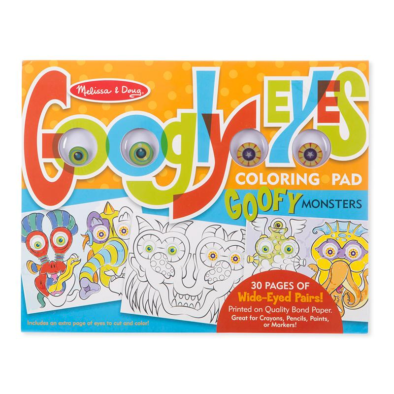 Googly Eyes Coloring Pad - Goofy Monsters - Happki