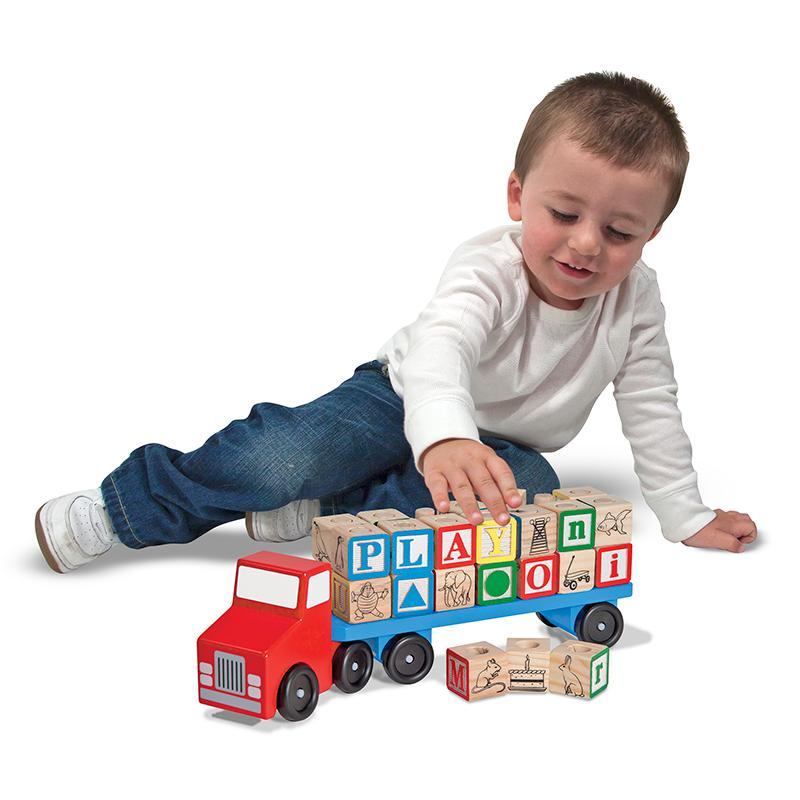 Alphabet Blocks Wooden Truck - Happki
