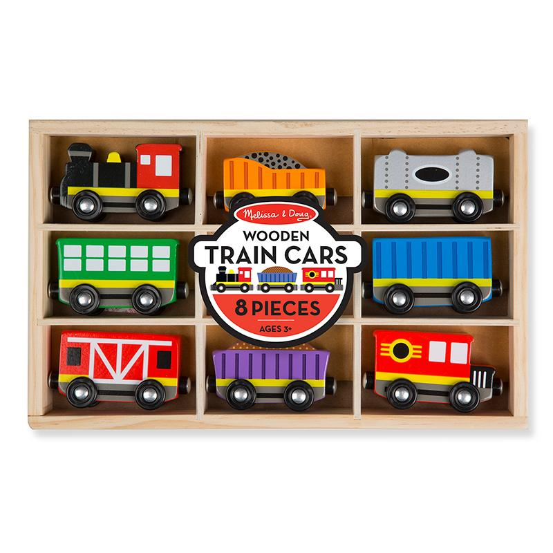 Wooden Train Cars - Happki