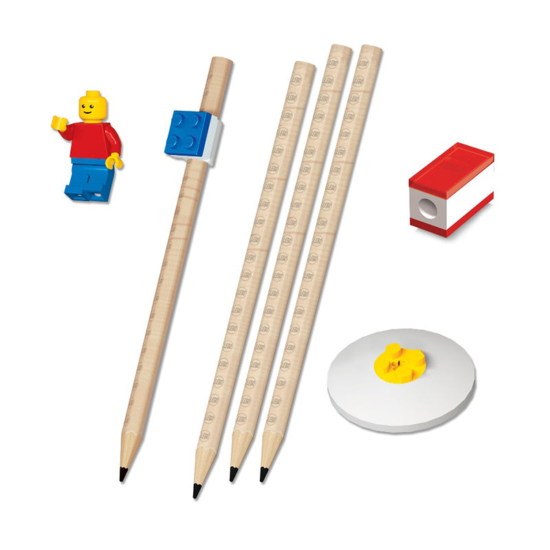 LEGO® Stationery Set with Minifigure - Happki