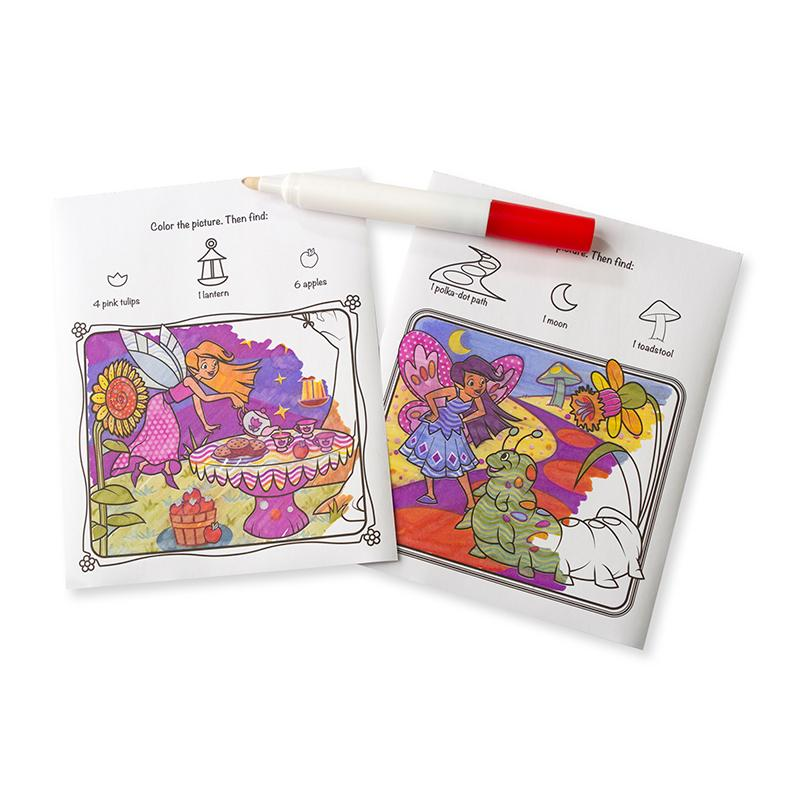 On the Go ColorBlast No-Mess Coloring Pad - Fairies - Happki