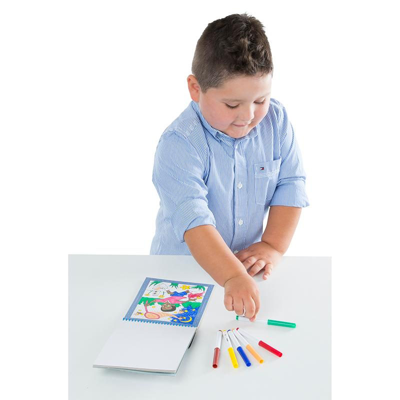 On the Go Color by Numbers Kids' Design Boards With 6 Markers - Playtime, Construction, Sports, and - Happki