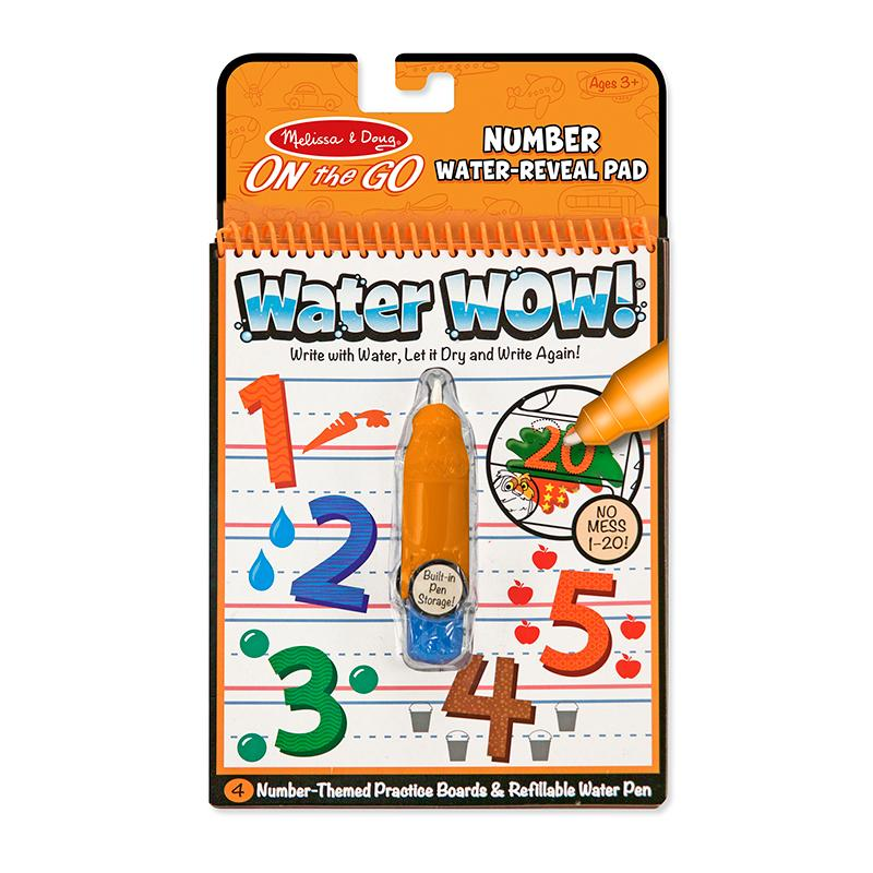 Water WOW! Numbers - ON the GO Travel Activity - Happki