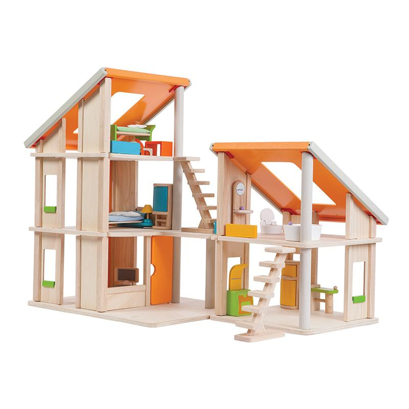Chalet Dollhouse With Furniture - Happki