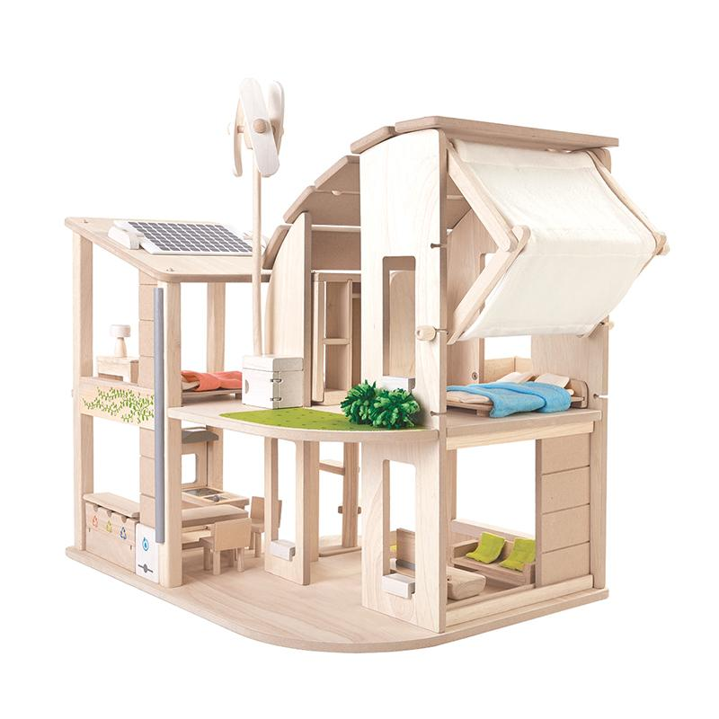 Green Dollhouse With Furniture - Happki