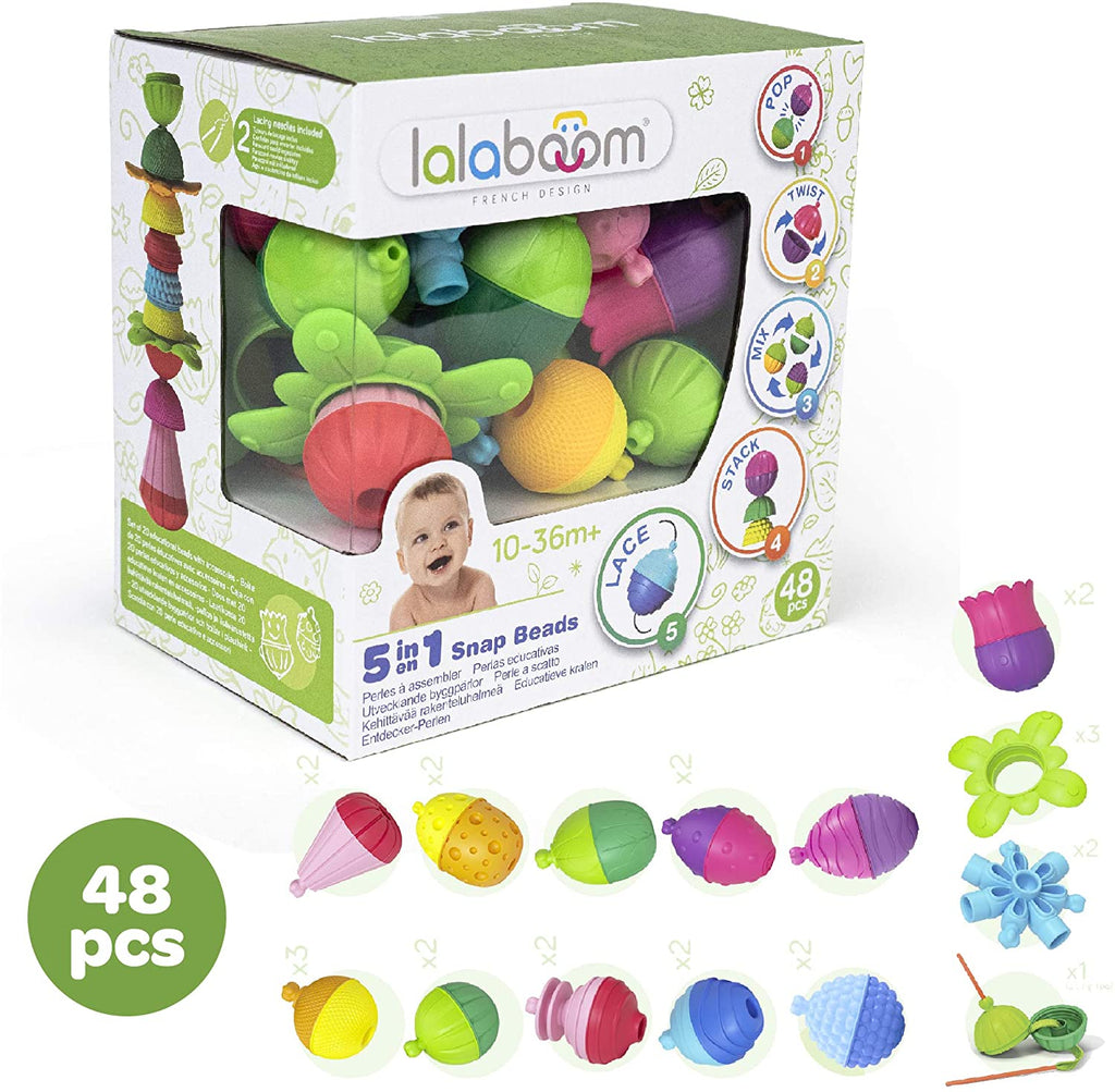 Lalaboom Activity Beads 48 Pieces - Happki