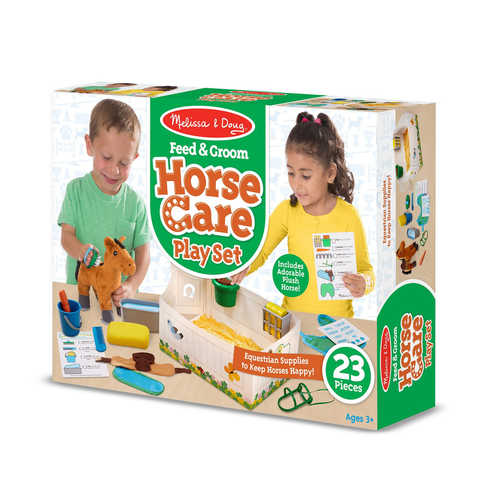Feed & Groom Horse Care Play Set - Happki
