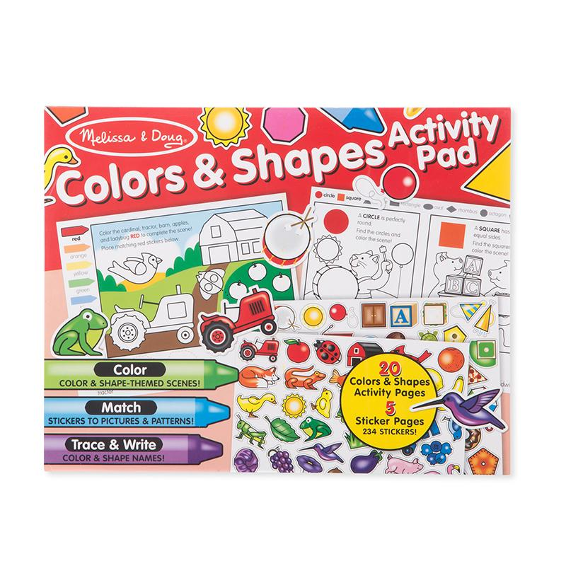 Colors & Shapes Activity Pad - Happki
