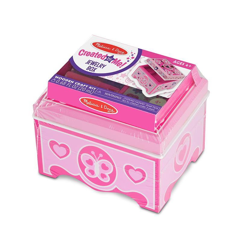 Created by Me! Jewelry Box Wooden Craft Kit - Happki