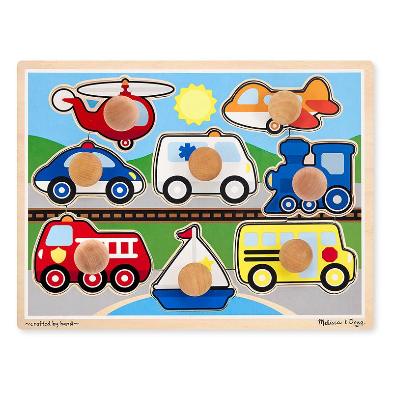 Vehicles Jumbo Knob Puzzle - 8 pieces - Happki