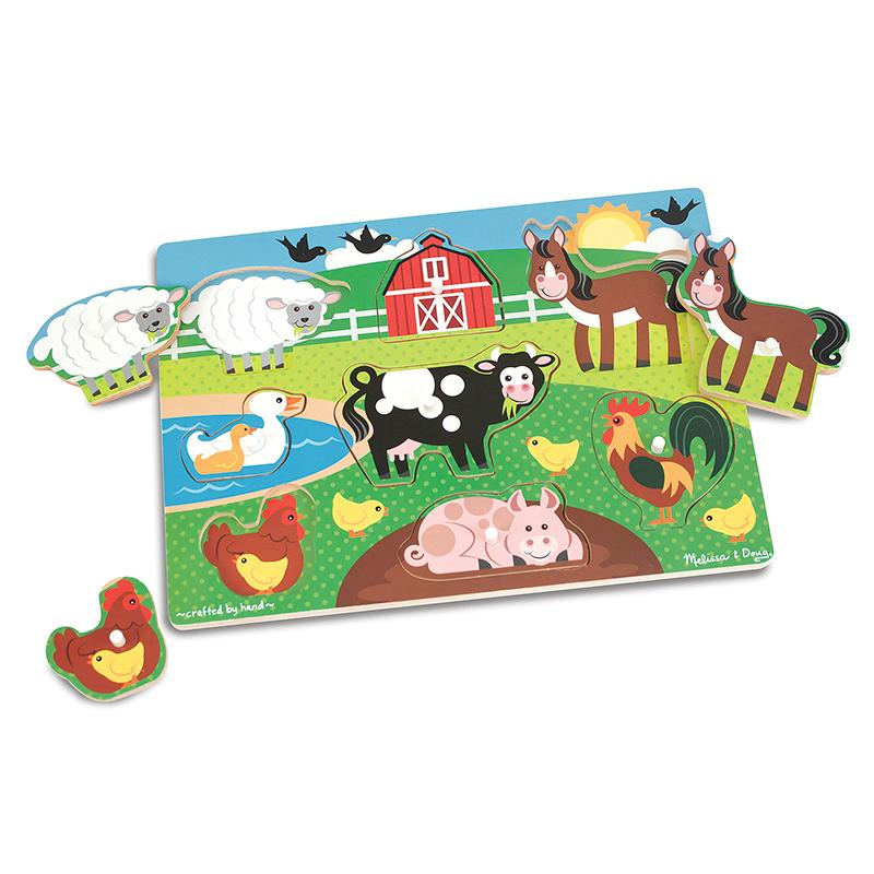 Farm Peg Puzzle 8 Pieces Happki