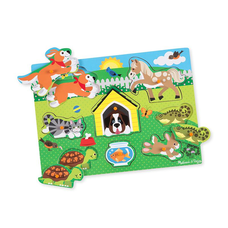 Pets Peg Puzzle - 8 Pieces - Happki