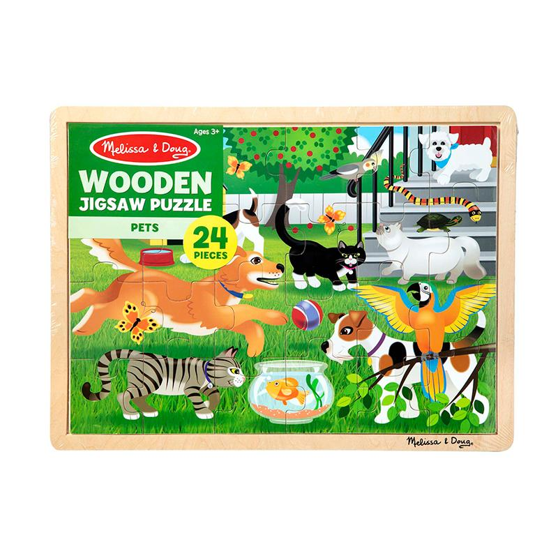 Pets Wooden Jigsaw Puzzle - 24 Pieces - Happki