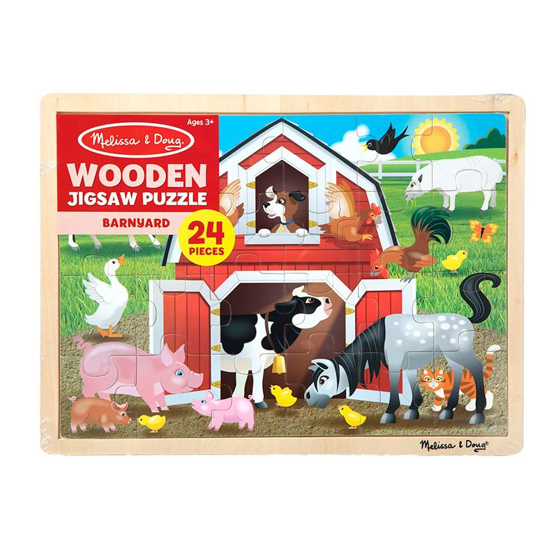Barnyard Buddies Wooden Jigsaw Puzzle - 24 Pieces - Happki