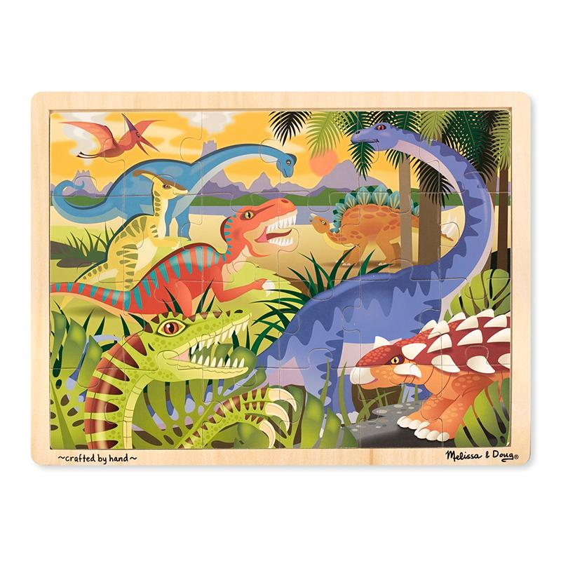 Dinosaur Wooden Jigsaw Puzzle - 24 Pieces - Happki
