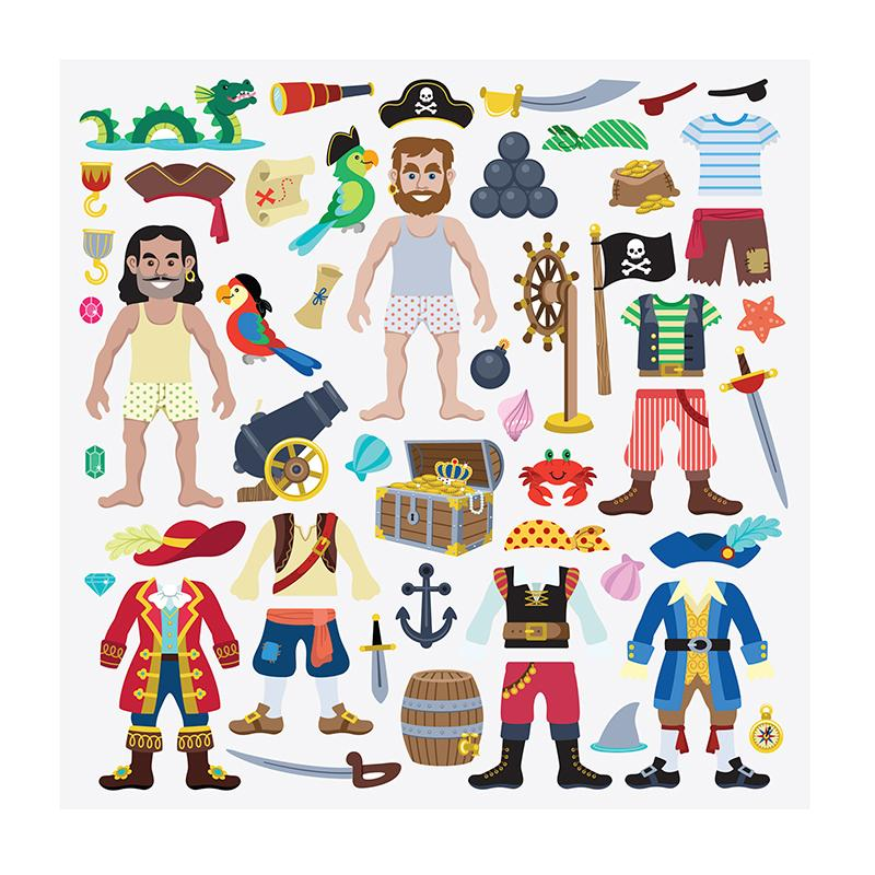 Puffy Stickers Play Set - Pirate - Happki